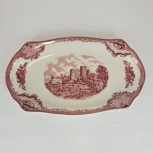 JOHNSON BROTHER Old Britain Castle pink tray